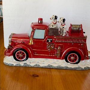 Christopher Radko Santa's Fire Brigade Cookie Jar